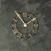 4 stone chips clock face