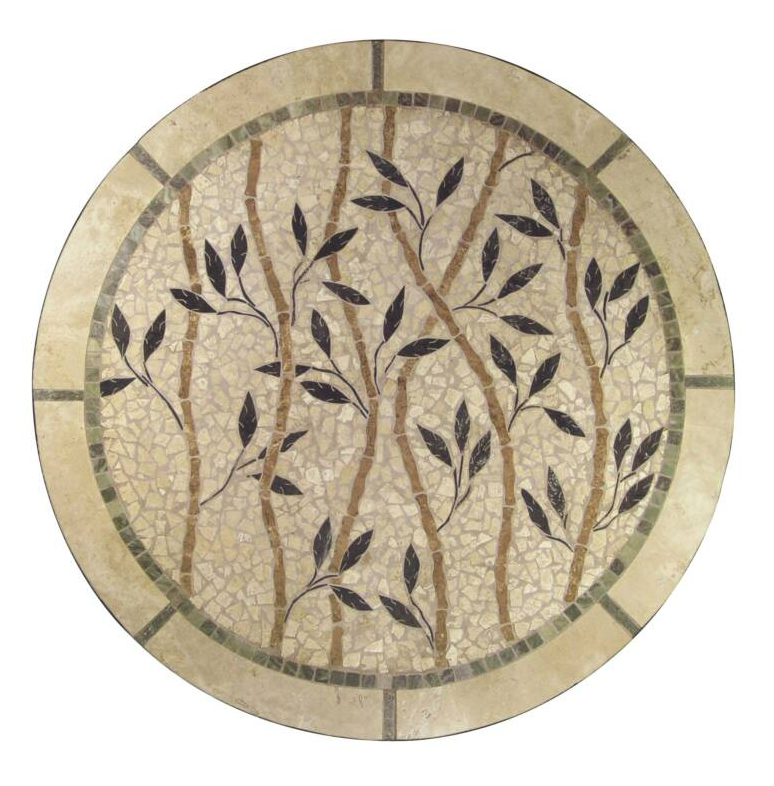 Round Mosaic Tile Patterns: Mosaic Natural Stone Table