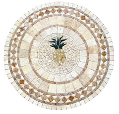 pineapple mosaic tables
