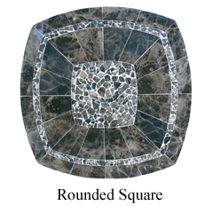 round square stone tables
